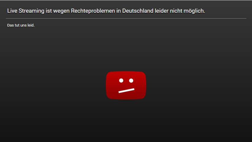 YouTube-Sperre