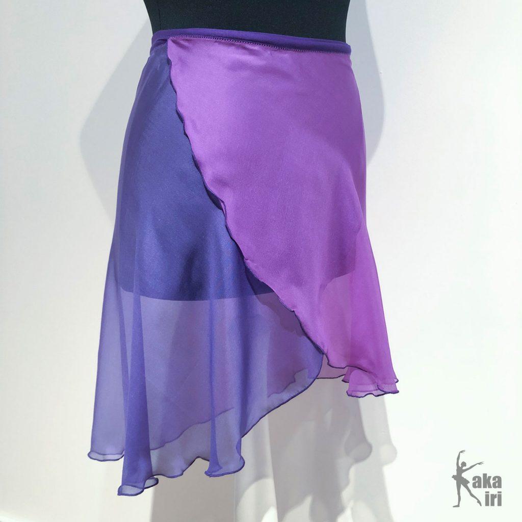 knielanger Ballettrock mit Farbverlauf
